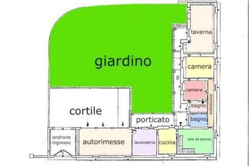 plan. Piano terra e giardino
